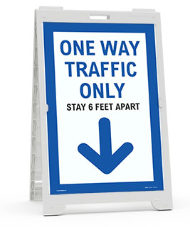 One Way Traffic Down Arrow Sandwich Board Sign
