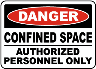 Danger Authorized Personnel Only Label