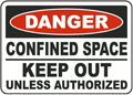 Danger Confined Space Keep Out Unless Authorized