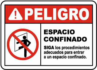 Spanish Entry Procedures Must Be Followed Sign