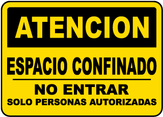 Spanish Caution Do Not Enter Unless Authorized Sign