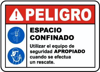 Spanish Danger Safety Equipment Must Be Worn Sign