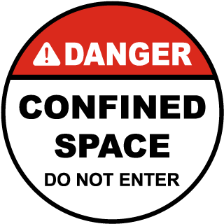 Danger Confined Space Do Not Enter Floor Sign