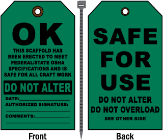 OK Safe For Use Tag
