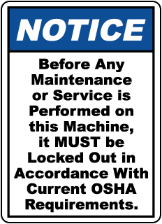 Notice Before any maintenance or service, E2241