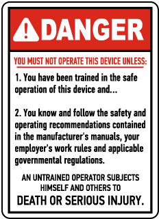 Danger You Must Not Operate This Device, E2263