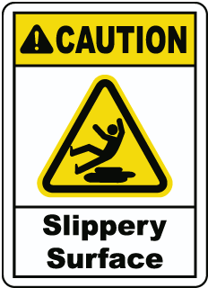 Caution Slippery SurfaceSign