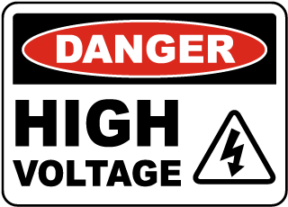 Danger High Voltage Sign