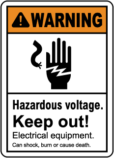 Warning hazardous voltage Keep out. Electrical equipment can shock, burn or cause death.