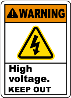 Warning High Voltage. Keep Out.