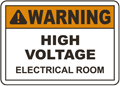 High Voltage Electrical Room Sign