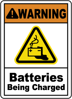 WARNING. Batteries Being Charged.