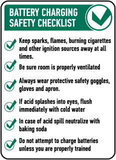 Battery Charging Safety Checklist