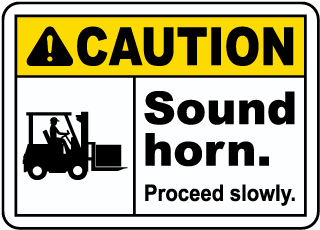 Caution Sound Horn Sign