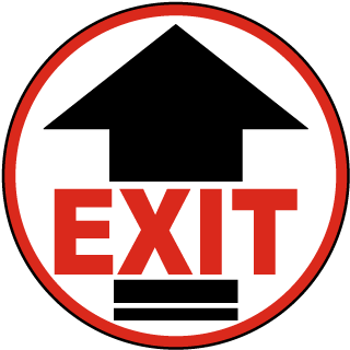 Exit Floor Marker with arrow