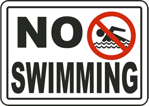 Pool Signs - No Swimming Signs, No Swimming in Pool Signs, F2511