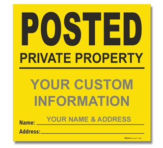 Custom Posted Signs in yellow and orange