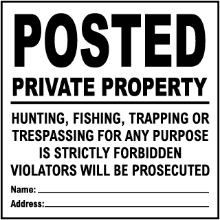 "Private Property No Trespassing Loitering Sign 12/"" x 18/"" Heavy Gauge Aluminum"