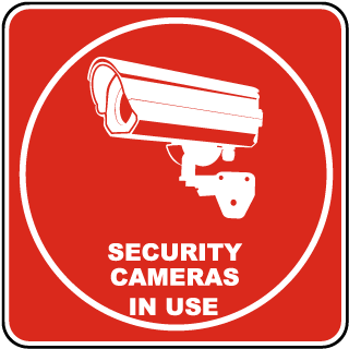 Security Cameras In Use Sticker