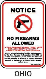 Notice No Firearms Allowed A Valid Concealed Carry Permit Does Not Authorize You To Carry A Concealed Weapon Into This Area ... Sign