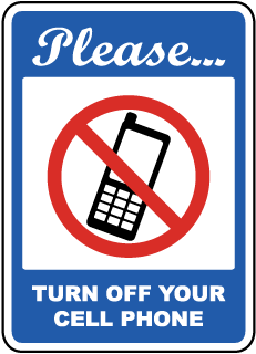 Please Turn Off Your Cell Phone Sign