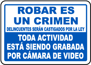 Spanish Activities Monitored By Video Sign