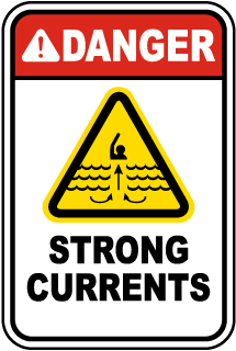 Danger Strong Currents Sign