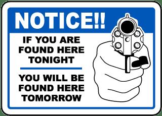 Found Tonight Found Tomorrow Sign
