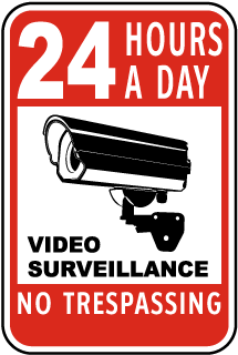 24 Hours A Day Video Surveillance Sign