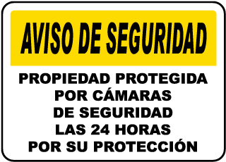 Spanish Property Under Surveillance Sign
