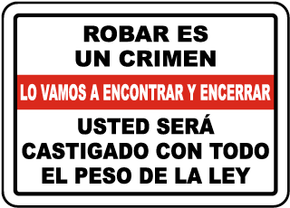 Spanish Shoplifting Is A Crime Sign