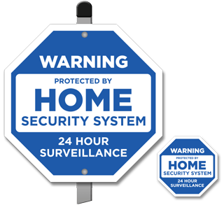 Warning Protected By Home Security System 24 Hour Surveillance Sign