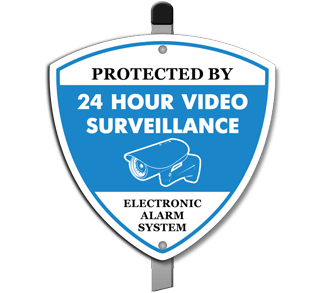 Protected by 24 Hr Video Surveillance Yard Sign