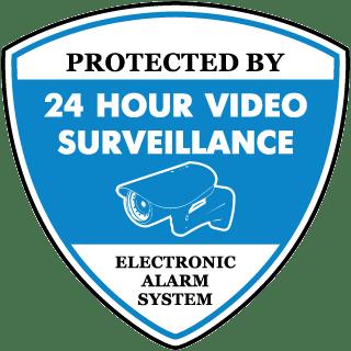 Protected by 24 Hr Video Surveillance Yard Sticker