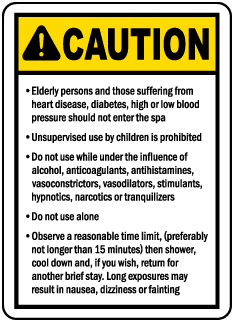 Connecticut Spa Warning Sign