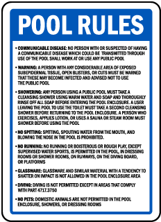 Minnesota Pool Rules Sign