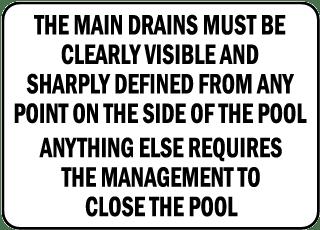 Montana Drain Cover Warning Sign