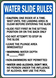 Oregon Water Slide Rules Sign