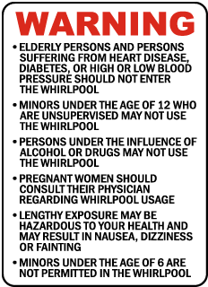 Wisconsin Whirlpool Warning Sign