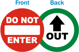 Do Not Enter - Out Clear Door Label