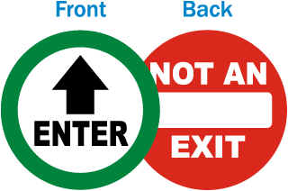 Enter - Not An Exit Clear Door Label