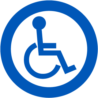 Universal Access Symbol Clear Door Label