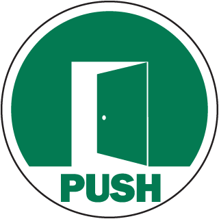 Push Door Label