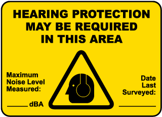 Hearing Protection May be Required in this area