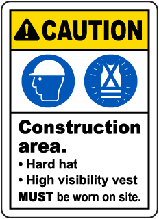 Construction Area PPE Sign