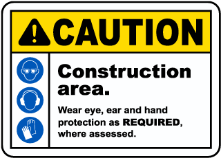 Caution Construction Area Sign