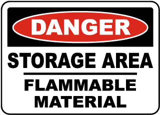 Storage Area Flammable Material Sign