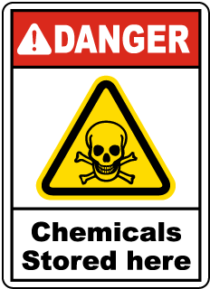 Danger Chemicals Stored Here