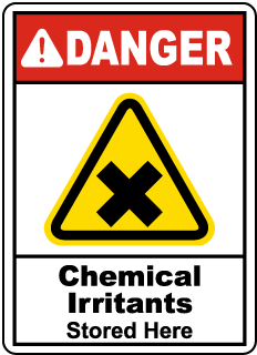 Danger Chemical Irritants Stored Here