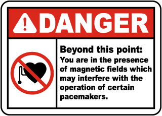 Danger Beyond this point Sign